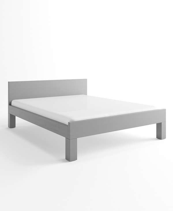 szare łóżko